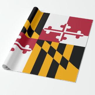 メリーランドの州の旗のデザインの装飾 ラッピングペーパー