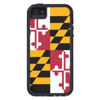 メリーランドの州の旗のデザインの装飾 iPhone SE/5/5s ケース
