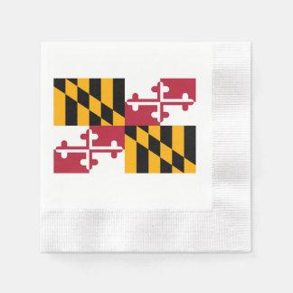 メリーランドの州の旗のデザイン 縁ありカクテルナプキン