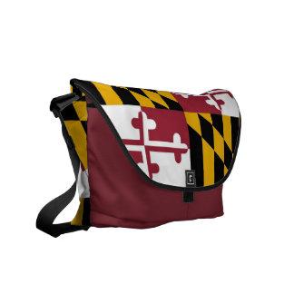 メリーランドの州の旗の人力車のメッセンジャーバッグ メッセンジャーバッグ