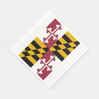 メリーランドの州の旗 スタンダードランチョンナプキン