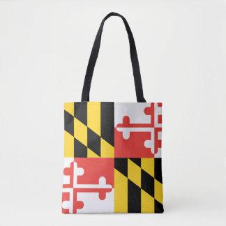 メリーランドの州の旗 トートバッグ