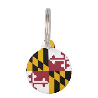 メリーランドの州の旗 ペット ネームタグ