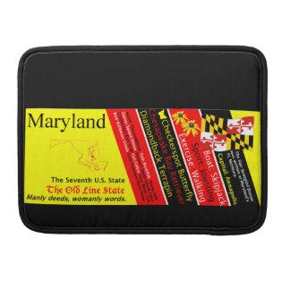 メリーランドの州記号のMacのバッグ MacBook Proスリーブ