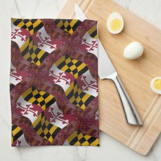 メリーランドの振る旗 キッチンタオル