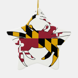 メリーランドの旗のカニ セラミックオーナメント