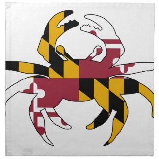 メリーランドの旗のカニ ナプキンクロス