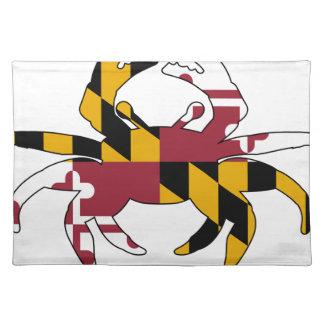 メリーランドの旗のカニ ランチョンマット
