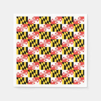 メリーランドの旗のナプキン スタンダードカクテルナプキン