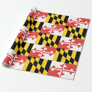 """メリーランドの旗の包装紙、30"""" x 6' ラッピングペーパー"""