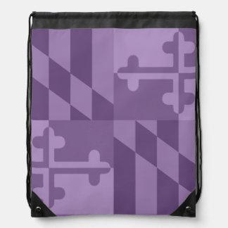 メリーランドの旗の白黒バッグ- lavander ナップサック