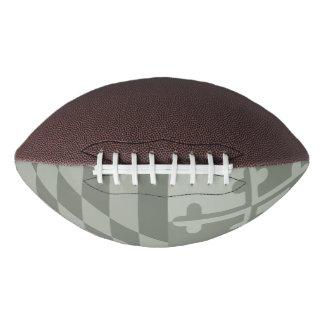 メリーランドの旗の白黒フットボール-オリーブ アメリカンフットボール