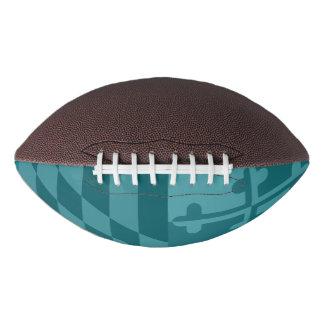 メリーランドの旗の白黒フットボール-ティール(緑がかった色) アメリカンフットボール