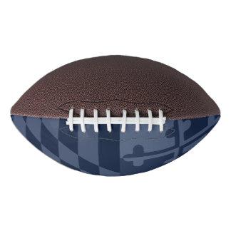 メリーランドの旗の白黒フットボール-濃紺 アメリカンフットボール