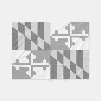 メリーランドの旗の白黒blanket-*CUSTOMIZABLE* フリースブランケット