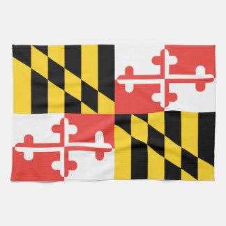 メリーランドの旗の皿タオル キッチンタオル