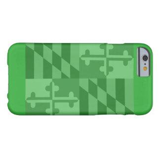 メリーランドの旗の(横の)電話箱-緑 BARELY THERE iPhone 6 ケース