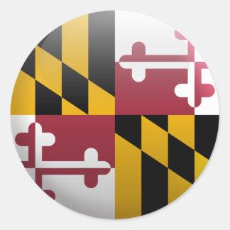 メリーランドの旗 ラウンドシール