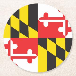メリーランドの旗 ラウンドペーパーコースター