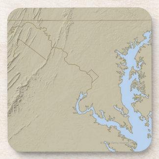 メリーランドの立体模型地図 コースター