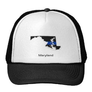 メリーランドの薄いブルーライントラック運転手の帽子 メッシュキャップ
