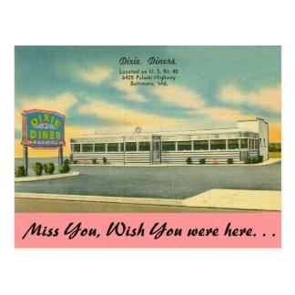メリーランドのDixieのダイナー、ボルティモア ポストカード