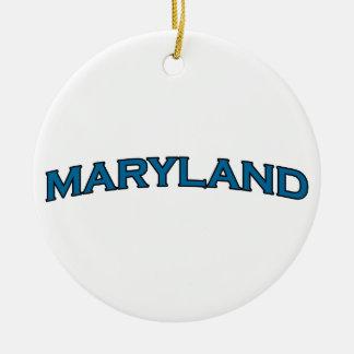 メリーランドは文字のロゴをアーチ形にしました セラミックオーナメント