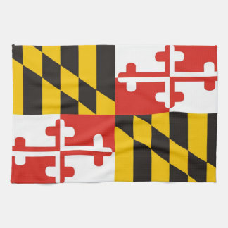 メリーランド米国の州の旗タオル キッチンタオル