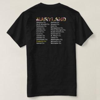 メリーランド郡コンサートのスタイル- Frederick co. Tシャツ