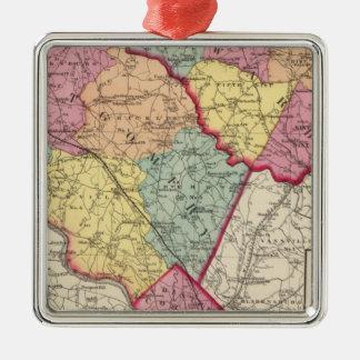 メリーランド郡2の地勢地図書 メタルオーナメント