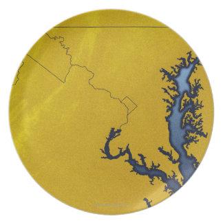 メリーランド4の地図 プレート