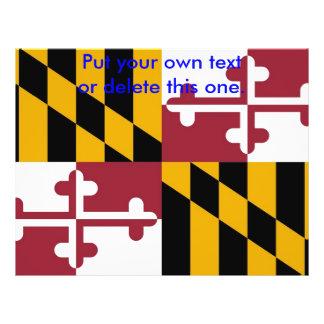 メリーランド、米国の旗が付いているフライヤ チラシ