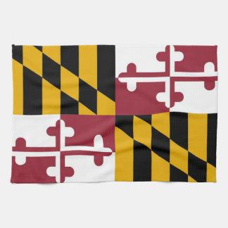 メリーランド、米国の旗が付いている台所タオル キッチンタオル