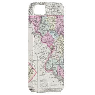 メリーランド(1855年)のヴィンテージの地図 iPhone SE/5/5s ケース