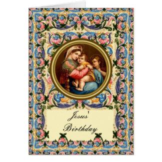 メリー児童のイエス・キリストのマドンナおよび誕生日 カード