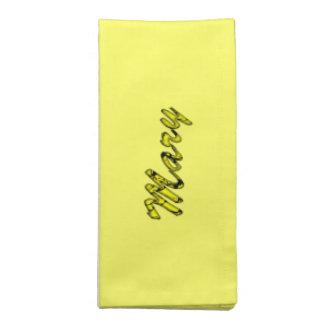 メリー夕食の付属品の黄色いテーブルナプキン ナプキンクロス