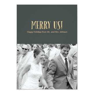 メリー私達! |の休日の写真のカードグリッター及びセメント カード