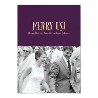 メリー私達! |の休日の写真のカードグリッター及びナス カード