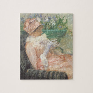 メリーCassattのヴィンテージの印象主義著お茶 ジグソーパズル