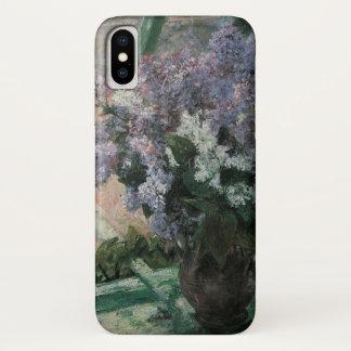 メリーCassattのヴィンテージの芸術著窓のライラック iPhone X ケース
