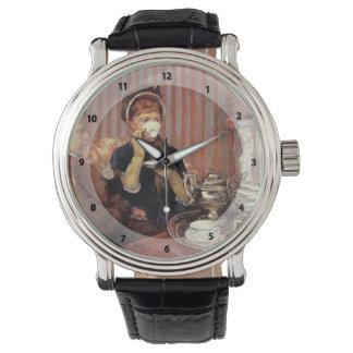 メリーCassatt-茶 腕時計