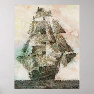 メリーCeleste -ヴィンテージの芸術 ポスター