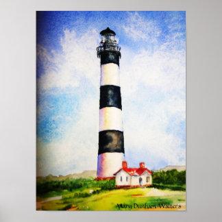 メリーDunhamウォルター著Bodieの灯台水彩画 ポスター