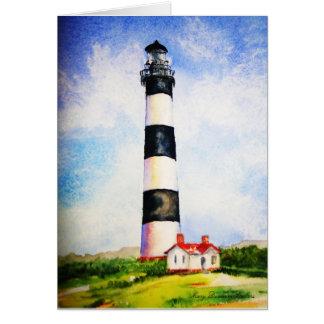 メリーDunham Walters著Bodieの灯台水彩画 カード