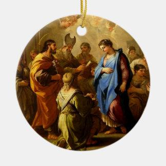 メリーOrnamへのヨセフの安心の夢及び結婚 セラミックオーナメント