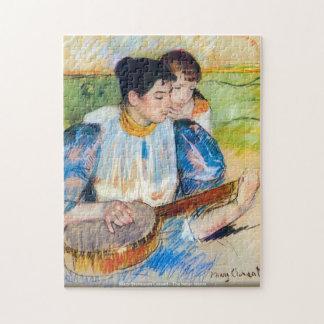 メリーStevenson Cassatt -バンジョーのレッスン- ArtPuzz ジグソーパズル