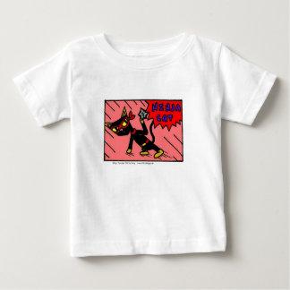 メルの忍者CATの乳児のTシャツ ベビーTシャツ