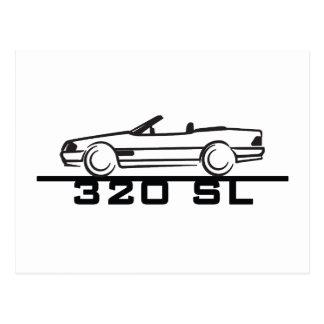 メルセデス320 SLのタイプ129 ポストカード