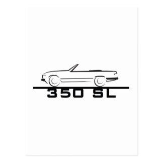 メルセデス350 SLのタイプ107 ポストカード