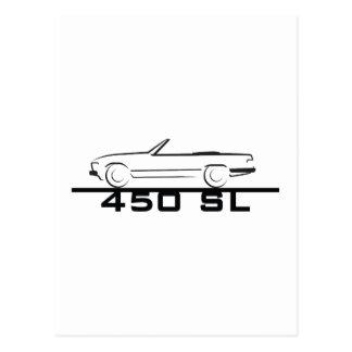 メルセデス450 SLのタイプ107 ポストカード